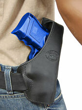 New Barsony Black Leather Pancake Gun Holster for Colt, Kimber Compact 9mm 40 45