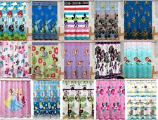 KIDS GIRLS BOYS SHOWER CURTAINS - MULTIPLE DISNEY/TV CHARACTERS