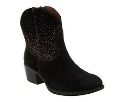 B.O.C. Ambrosia Suede Western Ankle Boots A235711