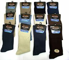 Non Elastic 3 Pack Socks 100% Cotton Oversize 50% Off 6-11 Blood Circulation
