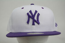 New Era New York Yankee White-Purple 59FIFTY Cap Fitted ALL SIZES