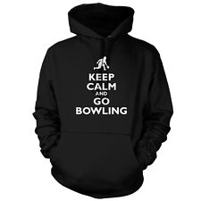 Keep Calm and Go Bowling - Unisex Hoodie / Hooded Top - Ten Pin - Bowl