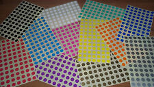 13mm (1/2 Inch) Round Blank Price Stickers - Color Code Dots - Sticky Labels