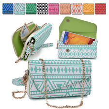Ladies Smart-Phone Phablet Convertible Clutch Wrist-let Shoulder Purse Bag XL