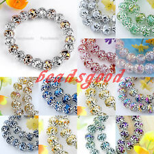 Crystal Glass Bead Flower Wrap Spacer Charms Stretchy Bracelet Bangle Women Gift