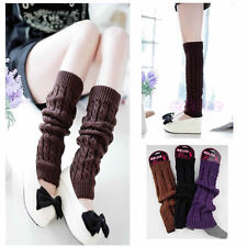 New Womens Fashion Winter Knit Crochet Knitted Leg Warmers Legging Boot Cover