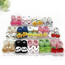 Cartoon Newborn Baby Girl Boy Anti-slip Socks Slipper Shoes Boots 0-10 Months