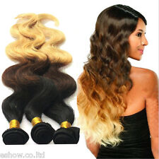 2Bundles Body Wave Free shipping US local Ombre BRAZILIAN Virgin Human Hair Hot