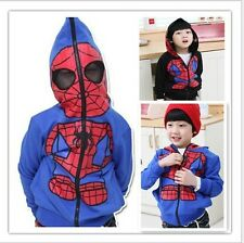 Free Shipping New 2014 Autumn Outerwear Hooded Jacket Coat Boys Spiderman Hot
