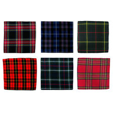 Tartan Fabric x 8 - Black Watch, Royal Stewart, Irish, Wallace 106 x 53 Inches