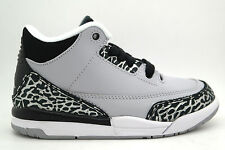 [429487-004] AIR JORDAN AIR JORDAN 3 RETRO PRE-SCHOOL SHOES WOLF GREY/METALLIC
