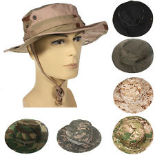 Mens Bucket Hat Boonie Hunting Fishing Outdoor Cap Canvas Military Sun Hat