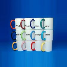 Coloured Personalised Mugs Cup Custom Gift Your Image Photo Text Design Printed