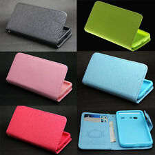 Button Wallet Leather Flip + Tpu Case Cover For Samsung Galaxy S Advance i9070
