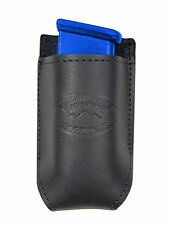 NEW Barsony Black Leather Single Magazine Pouch Smith & Wesson Compact 9mm 40 45
