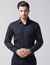 High Quality Men's Slim Dress Shirts Everyday Casual Tops Formal Business Shirts