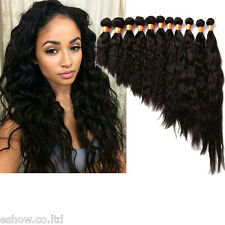2Bundles/lot Natural Wave INDIAN Virgin Remy Natural Color Human Hair Extensions