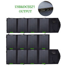18V Foldable Solar Panel Battery Charger Dual Output Backup For Laptops PC Phone