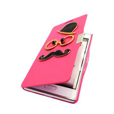 FL Gentleman Magnetic Leather Mustache Flip Case for LG Optimus L7 P705 P700