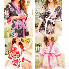 Sexy Womens Lingerie Sleepwear Robe Japanese Kimono Costume Nightgown Uniform
