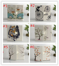 Flower Magnetic wallet PU Leather stand cover case for LG Optimus L80 #4