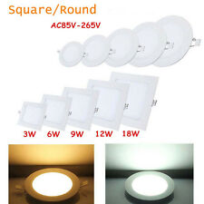 LED Panel Recessed Downlight Ceiling Lighting Lamps Bulb 3W 6W 9W 12W 18W Saving