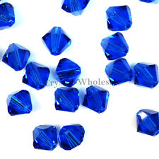 5mm Capri Blue (243) Genuine Swarovski crystal 5328 / 5301 Loose Bicone Beads