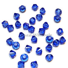 5mm Sapphire (206) Genuine Swarovski crystal 5328 / 5301 Loose Bicone Beads