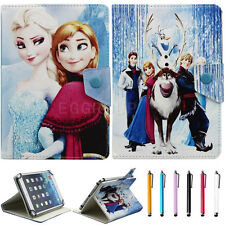 "Lovely Disney Frozen Cartoon Leather Case Cover for 7"" inch Android Tablet PC"