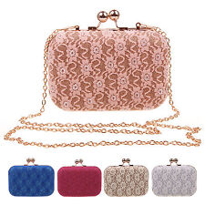 HOT SELL~Women Clutch Bag Box Evening Party Chain Hand Bags Shoulder Bag Wallets