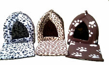 Cat bed igloo pyramid style various colours also for small dogs,ferrets,rabbits
