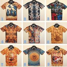 New Mens Bodys 3D Graphic Ethnic Virgin Round Top Tee T-shirt Shirt 9 Styles HOT