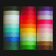 Grosgrain Ribbon Multipack - Quality UK Polyester Ribbon Selection 3mm - 25mm
