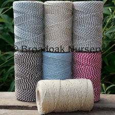 METALLIC SPARKLY COTTON BAKERS TWINE 100m SPOOL UK Made, divine range of colours