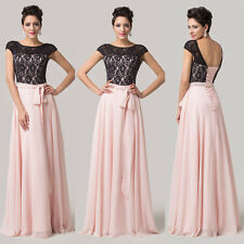 2014 Top Design Cap Sleeve Wedding Party Prom Gown Bridesmaid Dress UK Size 6-20