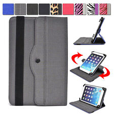 "Universal AR6 360 Rotating Folding Folio Stand Cover fits 7"" Tablets E-Readers"