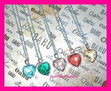 4 Beautiful Heart BirthStone Silver Plated Necklaces April March June October