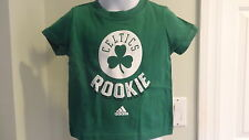 "NWT NBA Adidas Boston Celtics ""Rookie"" Green Infant Tee - Sizes 12-24 months"