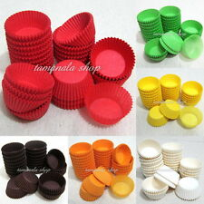 """NEW Dia 1.5"""" 600pcs Muffin Cupcake Baking Cups Cases Paper Liners Cake 6 Colors"""