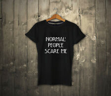 NORMAL PEOPLE SCARE ME T SHIRT AMERICAN HORROR STORY MOVIE FASHION TUMBLR UNISEX