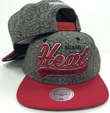Miami Heat Mitchell Ness NBA Tailsweep Snapback Adjustable Red Cap Hat