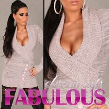 NEW SEXY WOMEN'S JUMPER DRESS Size 8-10-12-14 CASUAL SWEATER KNIT TOP PINK GREY