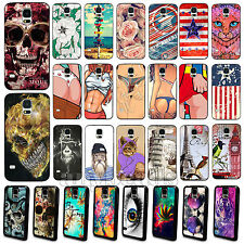 Various Animal Flower Skull Sexy Beauty Case Cover for Samsung S4 i9500 S5 i9600