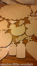 crafted wooden shapes
