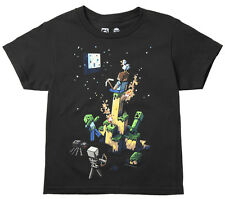 Minecraft Tight Spot Officially Licensed Youth T-Shirt - Black
