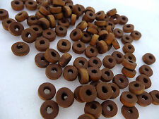3x8mm 20grams~210pcs GOLDEN ROD COLOR 2-TONES WOOD RONDELLE LOOSE BEADS W01546