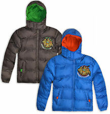 Boys Teenage Mutant Ninja Turtles Jacket Kids Padded Coat New Age 3 4 6 8 Years