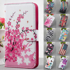 Flower Leather Flip Folding Wallet Case w/ Stand Cover for Samsung Galaxy Series