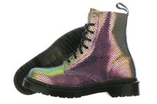 Dr. Martens Pascal 13660501 Violet Mirror Shift Suede Boots Medium (B, M) Womens