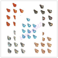 Lovely Teardrop 10x14mm glass crystal charms loose spacer beads color chioce